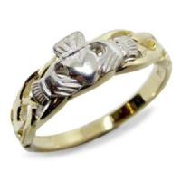 Two Tone Gold Ladies Claddagh Ring
